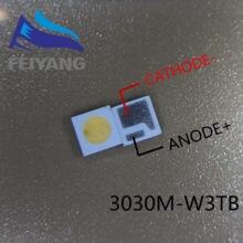 500 шт. 3030M-W3SP AOT светодиодная подсветка высокой мощности Светодиодный 1,6 Вт 3030 6 в холодный белый 100-130лм ТВ-приложение