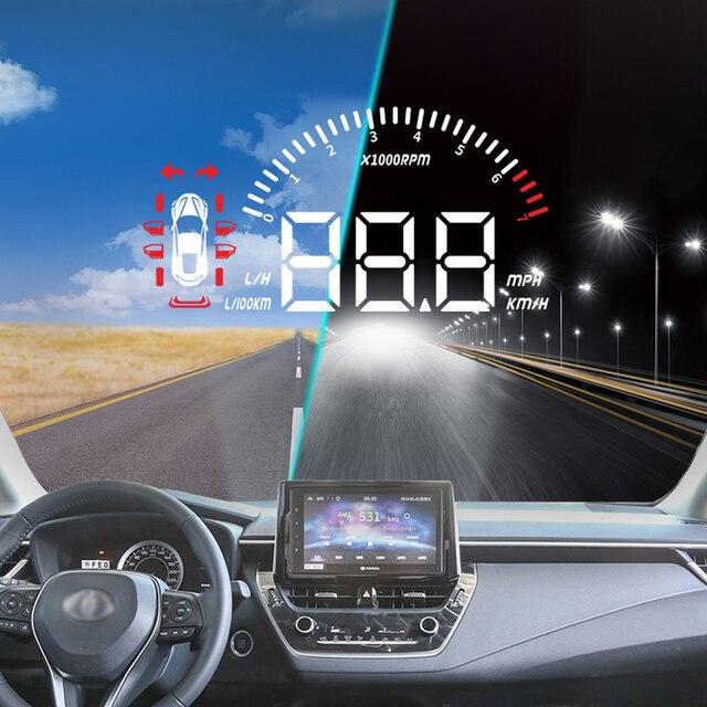 Liandlee لتويوتا كورولا 2019 وظيفة شاشة القيادة الآمنة سيارة هود رئيس يصل عرض العارض الزجاج الأمامي