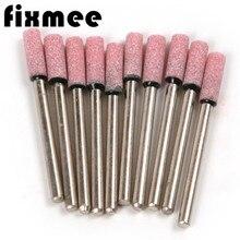 Fixmee 10x цепная пила точильный камень 3 мм хвостовик 4 мм Головка диаметр шлифовальный камень круглый наконечник