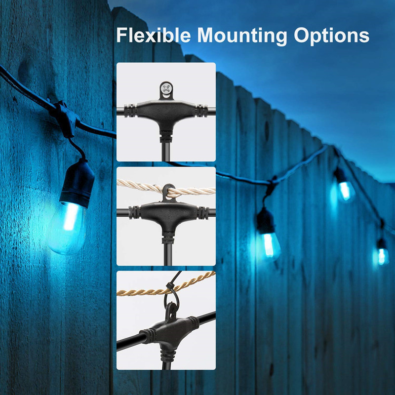 Image 3 - Waterproof Heavy Duty Outdoor RGB LED String lights Connectable Festoon for Party Garden Christmas Holiday Garland Cafe-in Lighting Strings from Lights & Lighting
