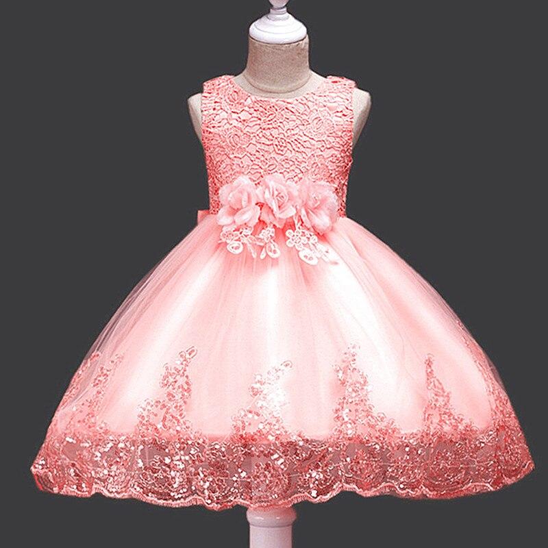 It's Yiya/платье с цветочным узором для девочек кружевные платья для первого причастия для девочек, элегантные рождественские Бальные платья без рукавов с блестками, 575 - Цвет: as picture