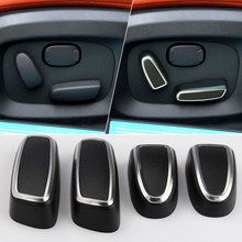 High Quality DIY Button Refit Cover Parts Replacement Accessories 4pcs Set Plastic Seat Switch Interior Adjustment(China)