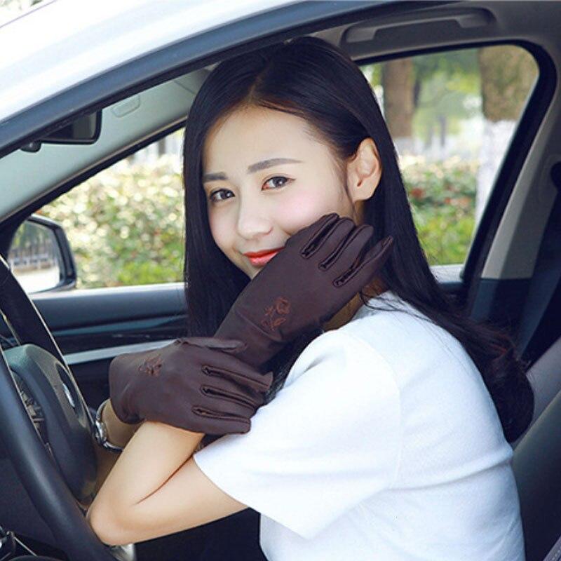 Новинка, летние женские перчатки и варежки с защитой от солнца, эластичные женские перчатки в горошек для девушек, женские перчатки, Прямая поставка Женские перчатки      АлиЭкспресс
