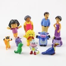 12 pçs/set Anime Ação PVC Figuras Brinquedos Dos Desenhos Animados Dora Dora the Explorer Bonecas Para Presente de Aniversário Do Miúdo