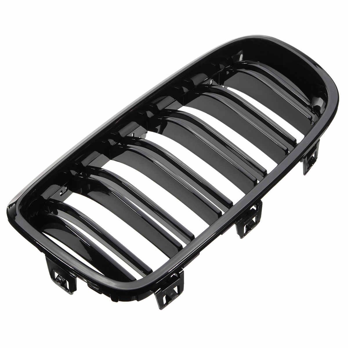 Gorąca para przednia kratka w kształcie nerki grille czarny błyszczący dla BMW F30 F31 F35 320i 328i 335i 2012 2013 2014 2015 2016 2017 wyścigi samochodowe Gri