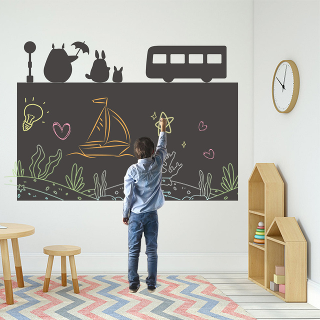 120x85cm Drawing Toys Waterproof Drawing Blackboard Paper Painting Writing Doodle With Chalk Non toxic Drawing Board