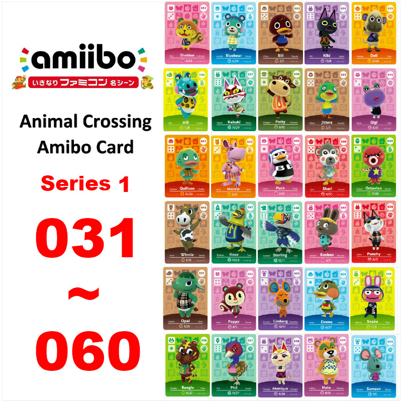 Animal Crossing Card Amiibo NFC game Card for nintendo switch NS Games Series 1 (031 to 060) image