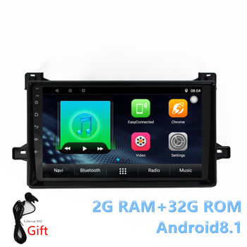 2din Car Android8.1 stereo Autoradio For Toyota Prius 2016 Quade-core RAM2G+ROM32G with BT WIFI Mirrorlink gps navigation player