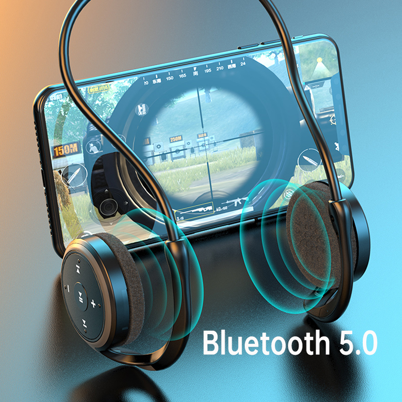 cheapest 2020 New Sport Bluetooth Headphone with MP3 player FM radio mic 10 hours music Wireless Headset TF Card Bass Stereo Earphones