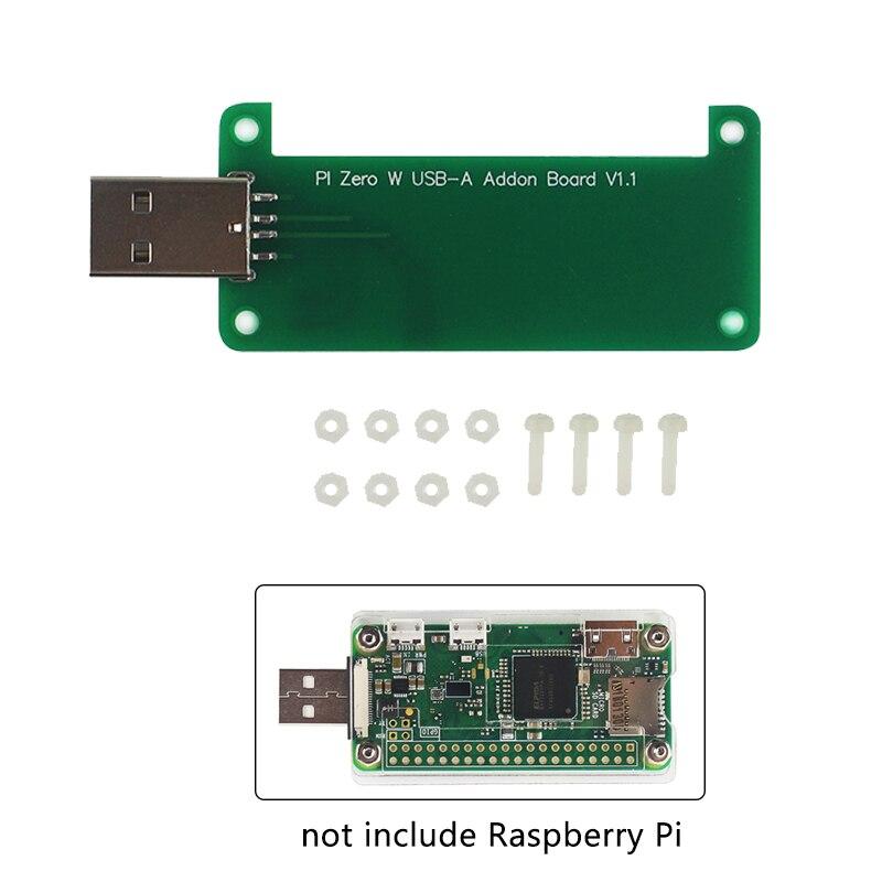 Raspberry Pi Zero W USB Addon Board USB Connector Raspberry Pi Zero To U Disk Expansion Board BadUSB For RPI Zero 1.3 W