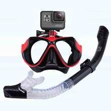 Маска для подводного плавания, трубка, набор, маска для дайвинга, противотуманные очки для плавания, очки для дайвинга, трубка для GoPro, подводная спортивная камера