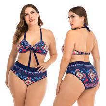 Women's Swimwear Two-piece Swimwear Large Size Swimsuit Women's Beach Female Separate with