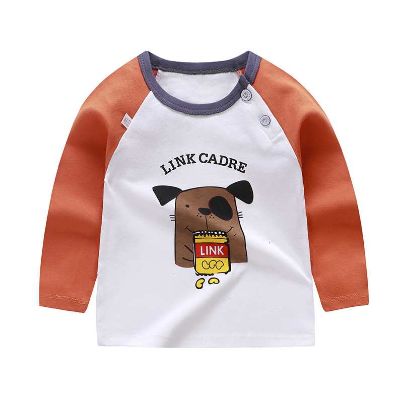 Luna Blanco 6M-2T <font><b>Baby</b></font> Boy tops t-<font><b>shirt</b></font> Cotton Cartoon O-Neck <font><b>baby</b></font> boy T-<font><b>Shirts</b></font> <font><b>long</b></font> <font><b>sleeve</b></font> striped Autumn toddler <font><b>shirt</b></font> image