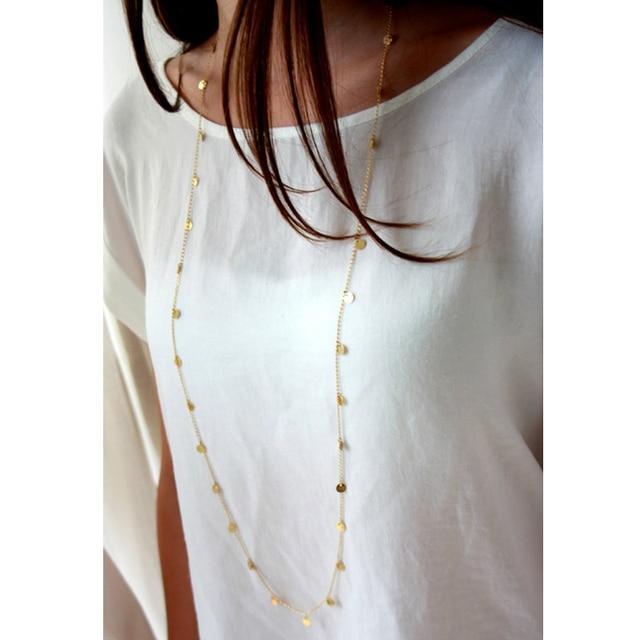 Богемное длинное ожерелье ювелирное изделие для женщин из золотых