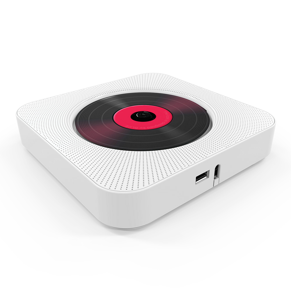 KC-808 lecteur CD mural haut-parleurs Bluetooth Audio maison Boombox avec télécommande FM Radio AUX casque U disque lecteur de musique