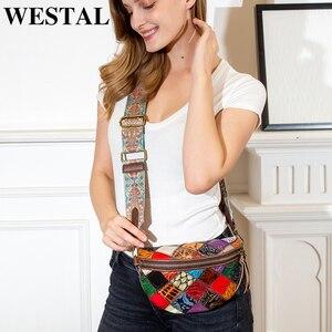 Image 3 - WESTAL sacchetti di spalla delle donne del messaggero del cuoio genuino borse per le donne shell mini crossbody bag patchwork piccolo borse desinger 088