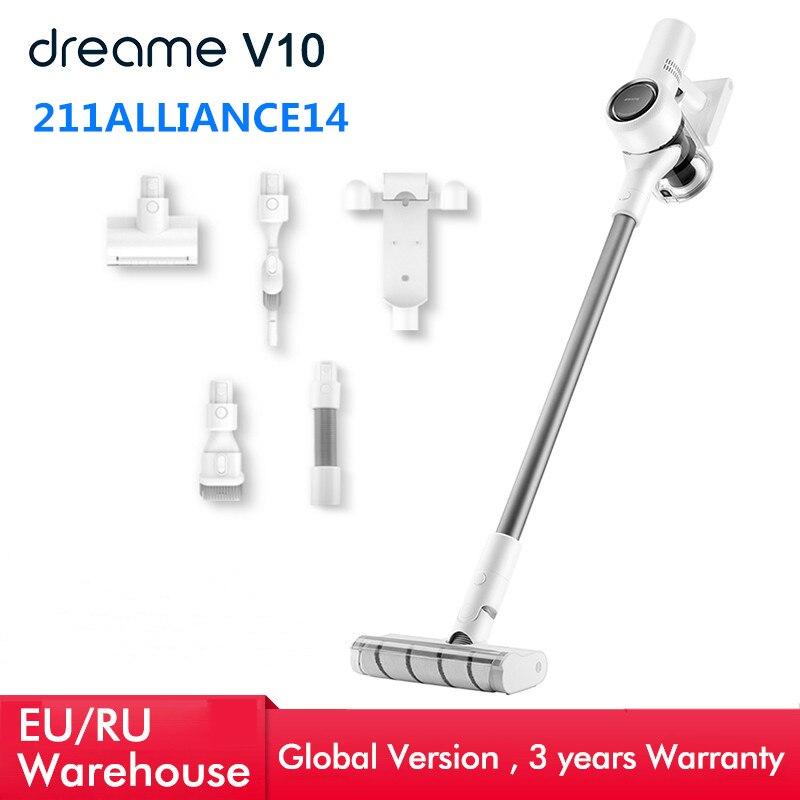 Ручной беспроводной пылесос Dreame V10, 22 кПа, портативный беспроводной циклонный пылесос