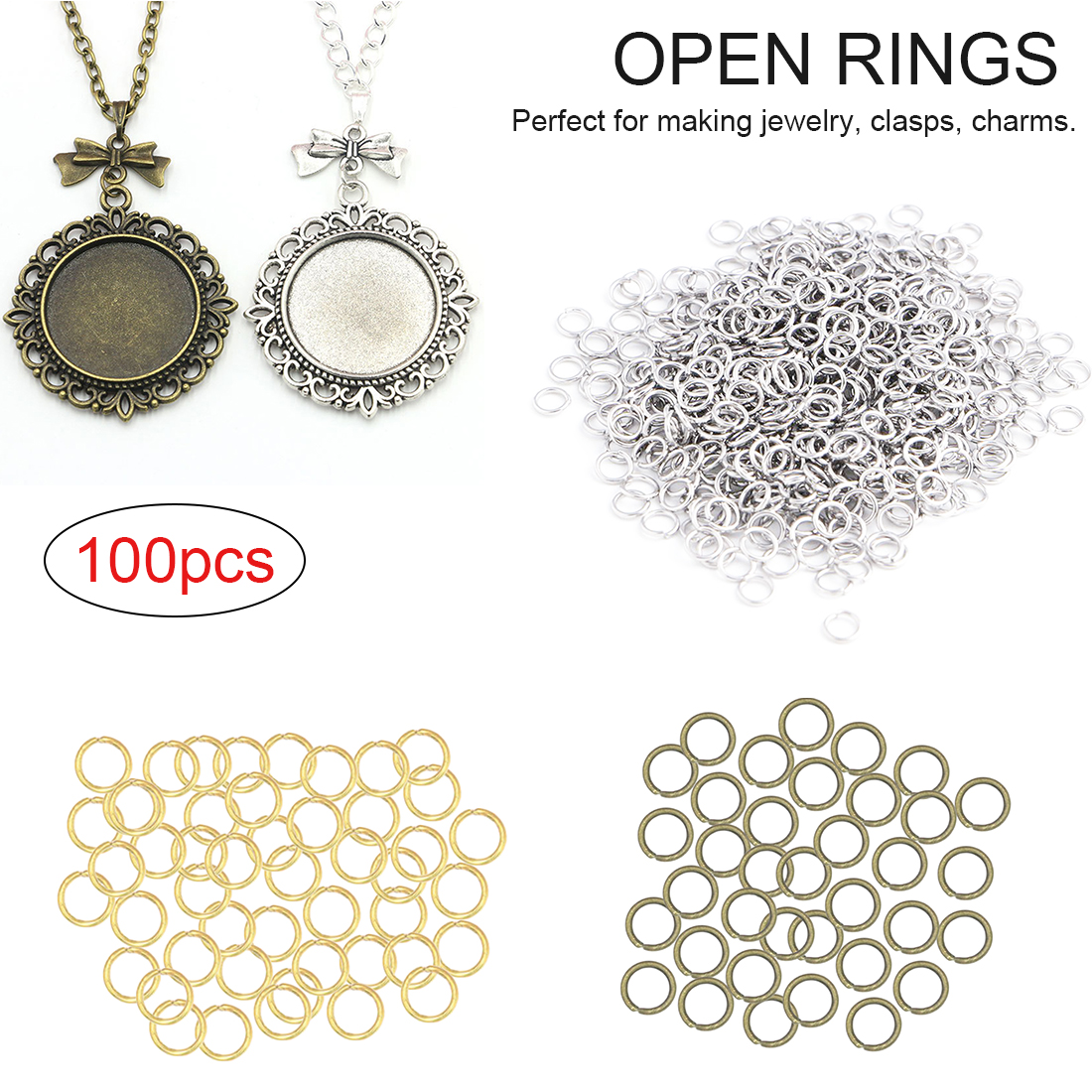Open Jump Rings Open Connectors 1 Roll Cable Chain Findings Jewelry Clasp
