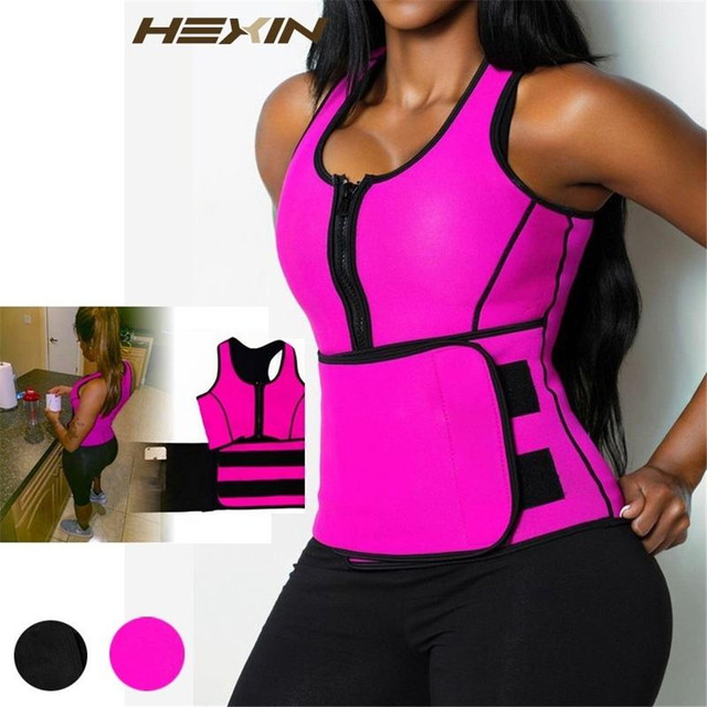 Women Neoprene Sauna Waist Trainer Vest Shaper Summer Workout Shaperwear Slimming Corset Adjustable Sweat Belt Body Shaper Tank