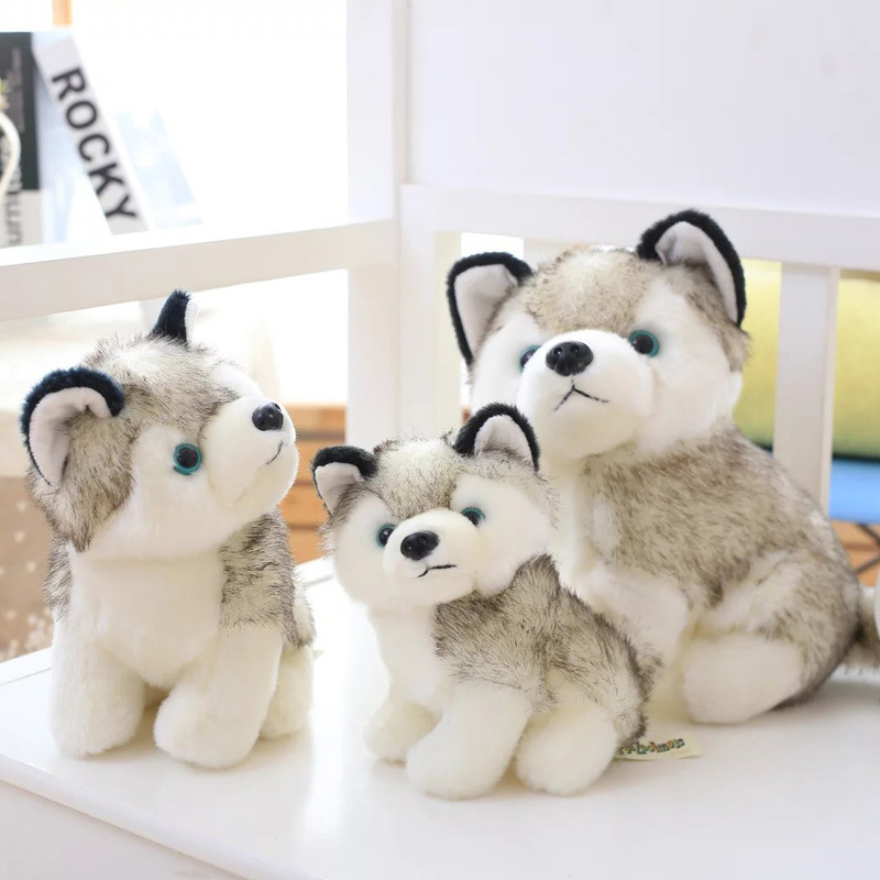 Cute Simulation Plush Toy Husky Doll Simulation Dog Toy Cute Puppy Children Toy Doll Comfort Gift Just6F