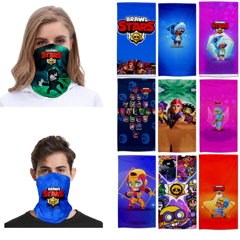 Brawling JAMONT Stars Outdoor Scarf Mask Variety Turban Magic  Face Mesh Headband Skull Neck Bandanas For Men Women Braga Cuello