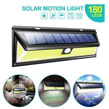 4000LM Solar Wall Light 180LEDs COB 3 Lighting Modes Solar LED Wall Lamp PIR Motion Sensor Waterproof Emergency Garden Yard Lamp