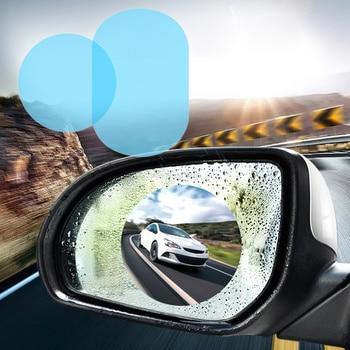 2PCS Cars Rearview Mirror Window Protective Film Car Accessories Interior Anti-Fog Membrane Waterproof Rainproof Auto Stickers diy protective 3 layer polyurethane membrane film for car auto lamp yellow 100 x 40cm