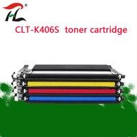 4PK kompatybilny toner kaseta clt k406s CLT 406s K406s dla Samsung y406s C410w C460fw C460w CLP 365w CLP 360 CLX 3305 3305fw w Kasety z tonerem od Komputer i biuro na