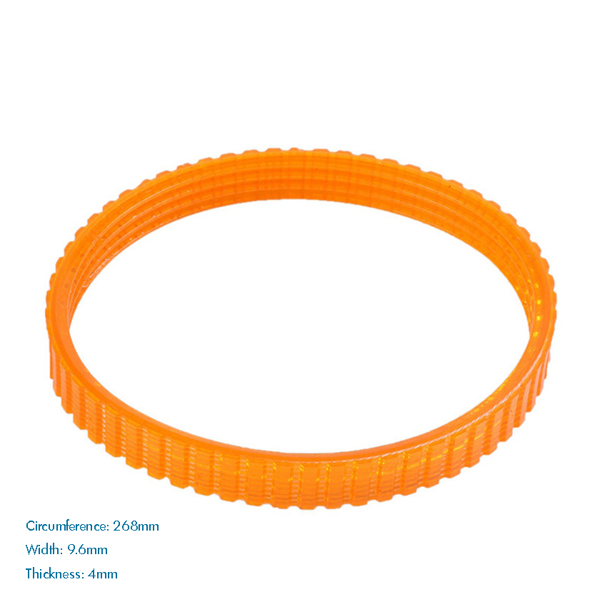 268mm Girth Electric Planer Belt For 1911B, 9.6mm Width, 4mm Thickness, Electric Planer Driving Belt Power Tool Accessories