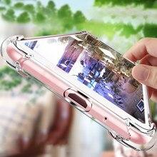 Coque transparente en Silicone TPU Ultra-mince pour iPhone, compatible modèles 5, 6, 6s, 7, 8, 11, 12 Pro Max, XS Max, XR, X, SE 2020