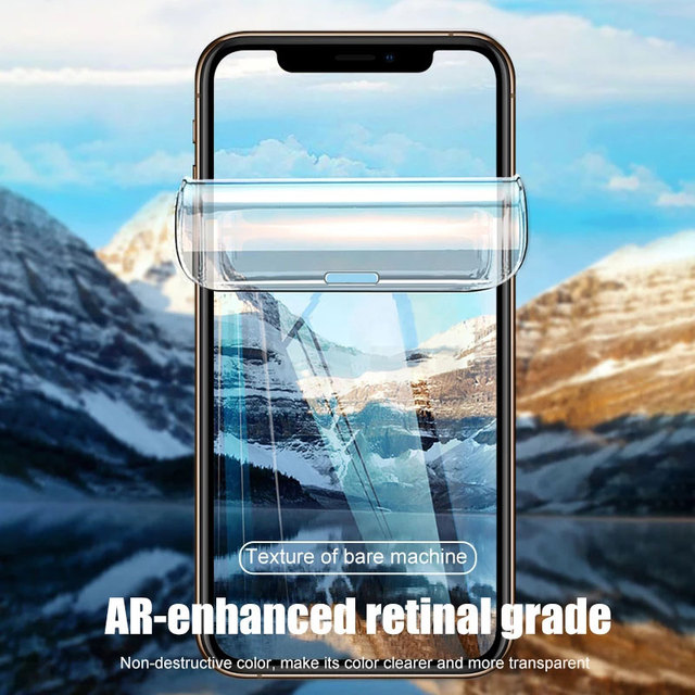 Screen Protector For iPhone 7 8 Plus 6 6s SE 2 Full Cover Hydrogel Film Soft Protective Film On iPhone 11 X XR XS Max 12 Pro Max 3