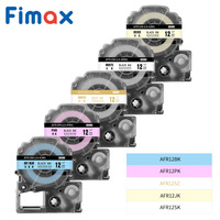 Fimax 1pcs SS12KW Satin Ribbon Label Tape Compatible for King Jim/EPSON label makers  Gift Wrapping SFR12SZ SFR12RZ SFR12GZ
