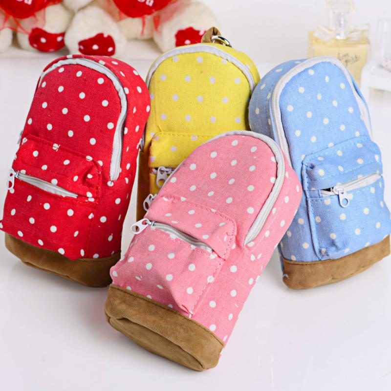 1pc new Creative <font><b>Pencil</b></font> <font><b>Cases</b></font> <font><b>Big</b></font> Capacity <font><b>Canvas</b></font> Backpack Polka Dot <font><b>Pencil</b></font> Bag Storage bag For School Office Supplies image