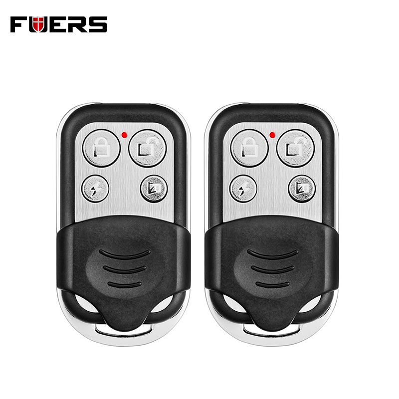 2pcs Wireless Metallic Metal Remote Control Setting Arm/Disarm For KERUI G19 G18 GSM Security Burglar Alarm System