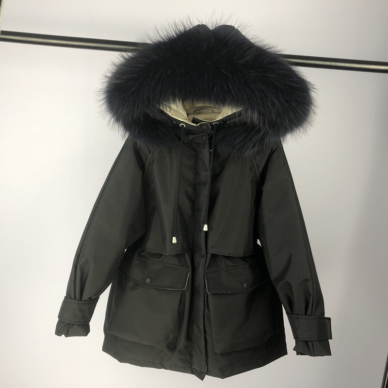 Winter Jacket Women Clothes 2020 Winter Coat Thick Warm Female Down Jacket Large Fur Hooded Women's Parka Down Coats 1900