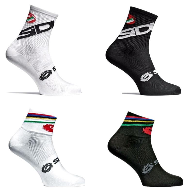 New Bike Socks Bicycle Men Women Professional Brand Sport Socks Protect Feet Breathable Wicking Cycling Socks