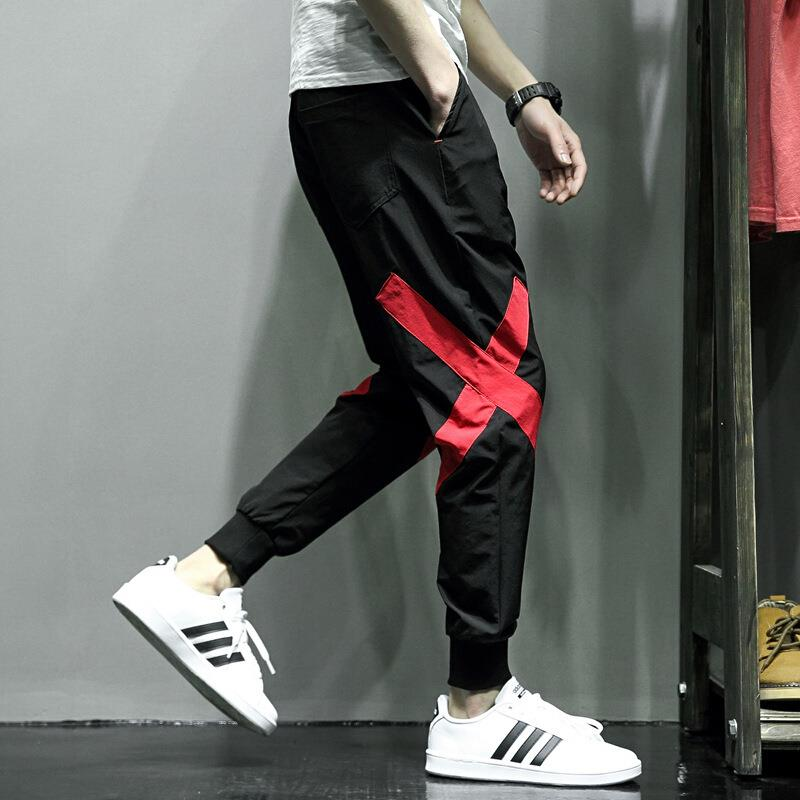 Hip Hop Cargo Pants Joggers Baggy Harem Men Sweatpants Japanese Streetwear Patchwork X Track Pants Cuffed Trousers For Male