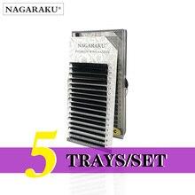 NAGARAKU 5 מגשי ריס הרחבות לערבב 7 15mm שווא גבוה באיכות פו מינק ריסים בודדים רך ו טבעי