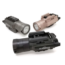 XH35 silah ışık taktik el feneri Airsoft çift çıkışlı Ultra yüksek beyaz LED parlaklık Strobe Fit 20mm ray