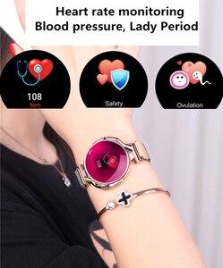 Image 5 - Mode Frauen Smart Uhr Wasserdicht Herz Rate Blutdruck Monitor Smartwatch Geschenk Für Damen Uhr Armband
