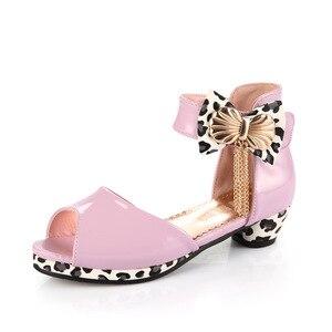 Image 5 - Trẻ Em Mới Công Chúa Chân Cao Cấp Cho Bé Gái Giày Da Thời Trang Hoang Dã Màu Tím Bướm Giày Trẻ Em Đảng Cưới Giày Khiêu Vũ