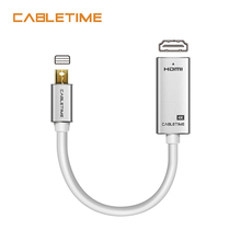 Cabletime Thunderbolt Mini Display port To HDMI Adapter Male-Female 4K 30Hz DP to for PC Macbook Pro Lenovo 4k N170