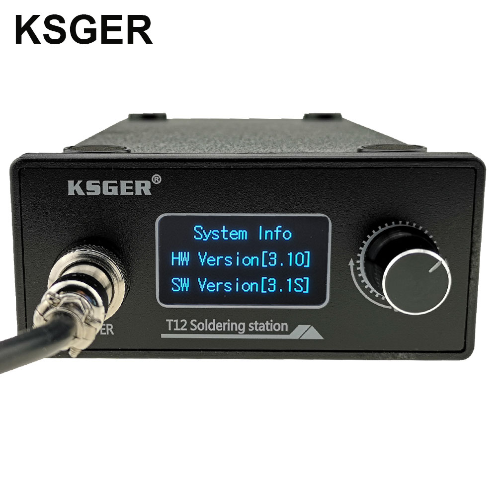 Image 2 - KSGER STM32 V3.1S T12 Soldering Station OLED DIY Aluminum Alloy FX9501 Handle Electric Tools Quick Heating T12 Iron Tips 8s TinsElectric Soldering Irons   - AliExpress