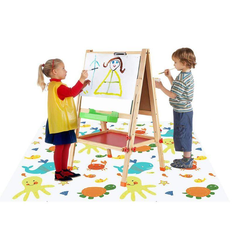 High Chair Splash Mat Floor Protector Non Slip Waterproof Baby Eatting Play Mat  New