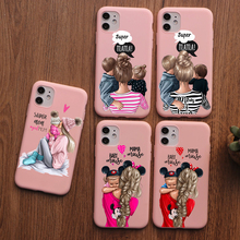 PUNQZY Cute baby Super girl mom Love Case For iphone 11 PRO MAX 6 6s 7 7s 8 plus xs XR XS MAX 11 Soft TPU Fush LOVE Mother's Day punqzy cute baby super girl mom love case for iphone 11 pro max 6 7 7s 8 plus xs xr xs max soft tpu transparent love mom love