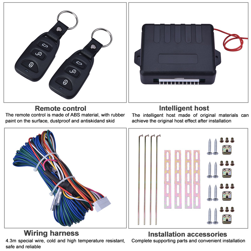 Image 3 - 12V Universal Car Door Lock Motor Actuator Keyless Entry System Remote Central Control Locking Kit With Trunk Release ButtonLocks & Hardware   -