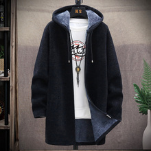 Top Cardigan Trench-Coat Outwear Jacket Hooded Long-Sleeve Male Autumn Winter Mens New