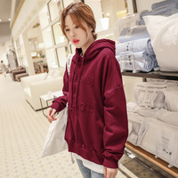 2018 Autumn And Winter WOMEN'S Dress South Korea New Style INS College Blue 3D Embossed Hoodie Women's
