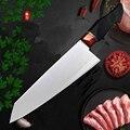 Нож шеф-повара VG10  Высококачественный Нож из углеродистой стали  зеркальная отделка  японский супер Gyuto  с Умной ручкой