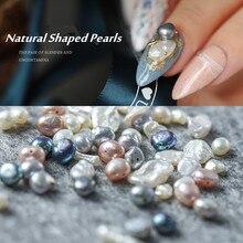 5-10 шт натуральные жемчужины Морская раковина каменные ногти художественные части для УФ-гель для ногтей лак украшения ногтей аксессуары